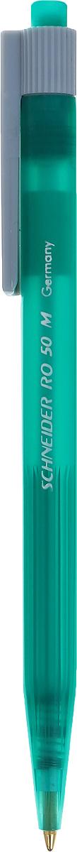 Schneider Ручка шариковая RO50 цвет корпуса зеленыйS305-01/0_зеленыйАвтоматическая шариковая ручка Schneider RO50 станет незаменимыми атрибутом учебы или работы. Корпус ручки выполнен из полупрозрачного пластика. Высококачественные светоустойчивые и водостойкие синие чернила позволяют добиться идеальной плавности письма. Ручка имеет практичный пластиковый клип для удобной фиксации на бумаге или одежде. Надежная ручка строгого классического дизайна станет верным помощником для студента и офисного работника.