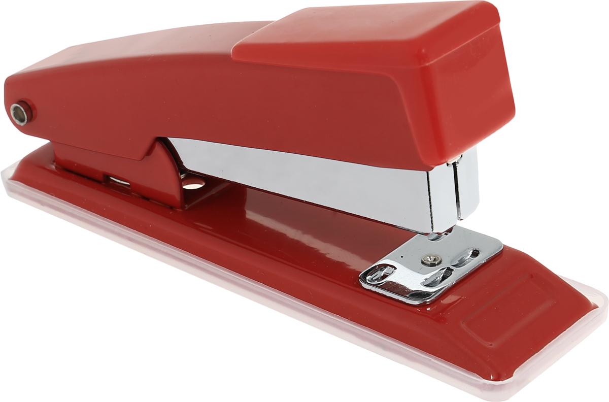 Centrum Степлер для скоб №24/6 26/6 цвет красный80061_красныйСтильный, удобный и практичный степлер Centrum - незаменимый офисный инструмент. Он выполнен из пластика с металлическим механизмом. Степлер рассчитан на скрепление 10 листов скобами № 24/6, 26/6. Степлер Centrum с надежным корпусом и эргономичным дизайном гарантирует стабильную и качественную работу в течение долгого времени.