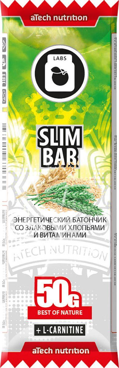 Спортивный батончик aTech Nutrition Slim Bar, 50 г4630019671333Батончик Slim bar, с содержанием л-карнитина, отлично подходит для людей, ведущих активный образ жизни и следящих за собственным весом. Важным свойством л-карнитина является усиление обмена веществ и превращение жирных кислот в энергию, увеличение работоспособности и заряд отличным настроением на весь день! Будь в форме в любой ситуации с батончиками Slim bar от aTech nutrition! Находясь в автомобильной пробке или офисе, на отдыхе с друзьями или на парах, на велопрогулке или в спортзале - для восполнения энергии при отсутствии возможности полноценного приема пищи или между ними воспользуйся батончиками от aTech nutrition! В состав батончиков от aTech nutrition входят витамины и минералы, различные виды протеина, клетчатка и особые активные компоненты. Важно, что они предназначены не только для спортсменов, а для всех людей, следящих за своим питанием. В ассортименте выпускаемой нами продукции присутствуют Protein bar с повышенным содержанием сывороточных и молочных белков, Slim...