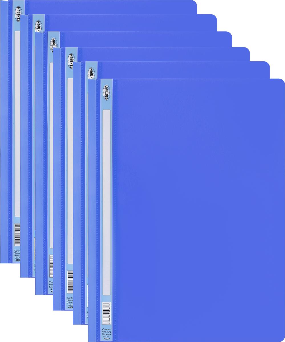 Centrum Папка-скоросшиватель цвет синий 6 шт80078_синийПапка-скоросшиватель Centrum - это удобный и функциональный офисный инструмент, предназначенный для хранения и транспортировки рабочих бумаг и документов формата А4. Изготовлена из полупрозрачного и прочного пластика, имеет прозрачный верхний лист и более плотный нижний. Папка оснащена металлическими скобами для фиксации перфорированных бумаг. В комплект входят 6 папок формата A4. Папка-скоросшиватель - это незаменимый атрибут для студента, школьника, офисного работника. Такая папка надежно сохранит ваши документы и сбережет их от повреждений, пыли и влаги.