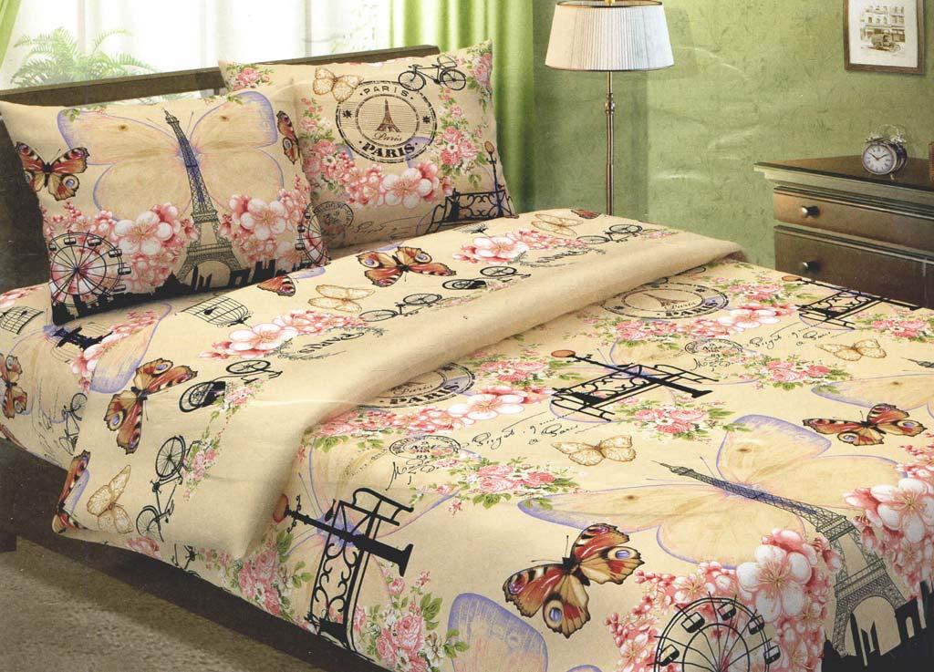 Комплект белья Primavera Бонжур, 1,5-спальный, наволочки 70x70, цвет: Слоновая кость80685