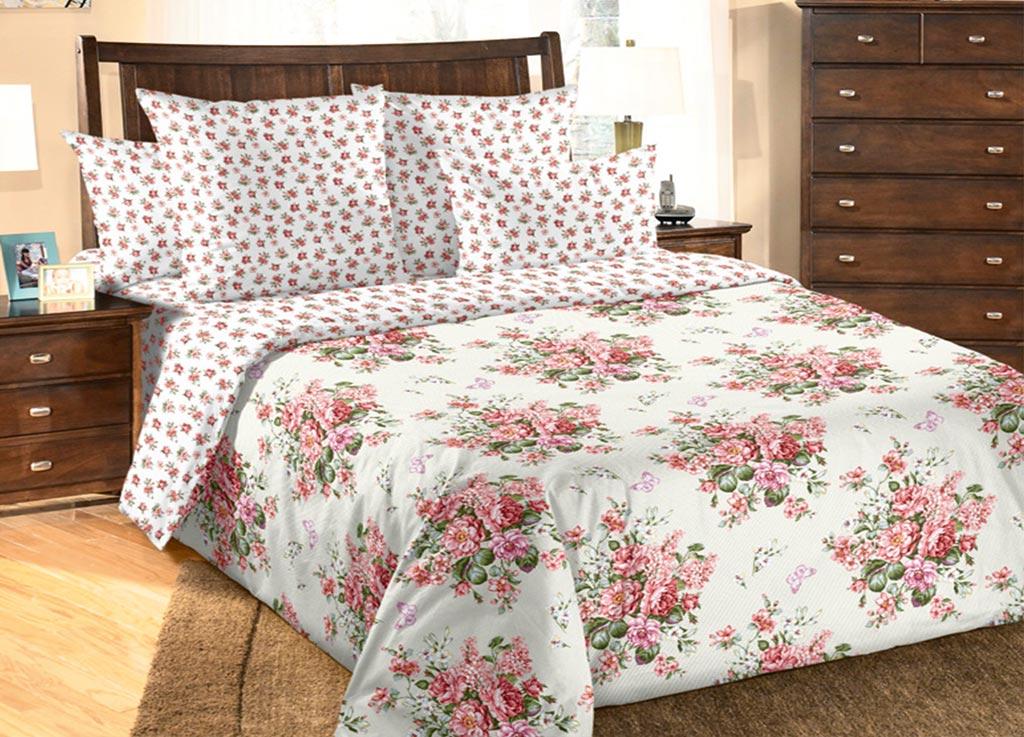 Комплект белья Primavera Розочки , евро, наволочки 70x70, 50x70, цвет: белый85820
