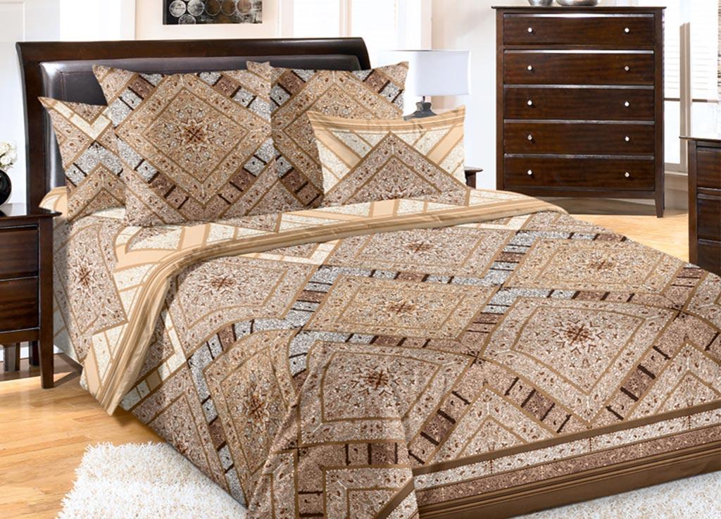 Комплект белья Primavera Песок, семейный, наволочки 70x70, 50x70, цвет: коричневый85831