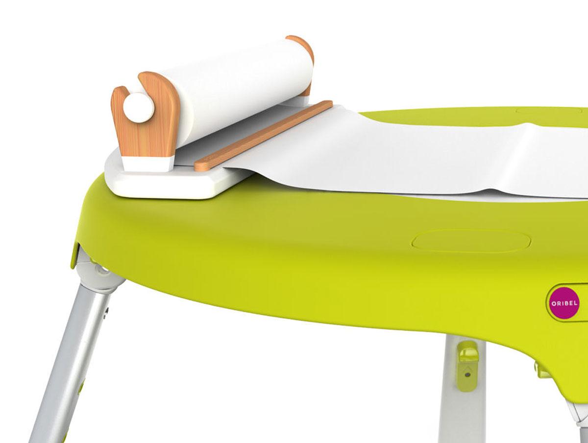 Oribel Ролл-диспенсер для бумаги для рисованияCY303-90002Диспенсер для бумаги PortaPlay представляет из себя прочный деревянный держатель, который надежно крепится к столу. В него уже предустановлен 20-метровый рулон белой бумаги, на которой можно рисовать карандашами, фломастерами и красками.