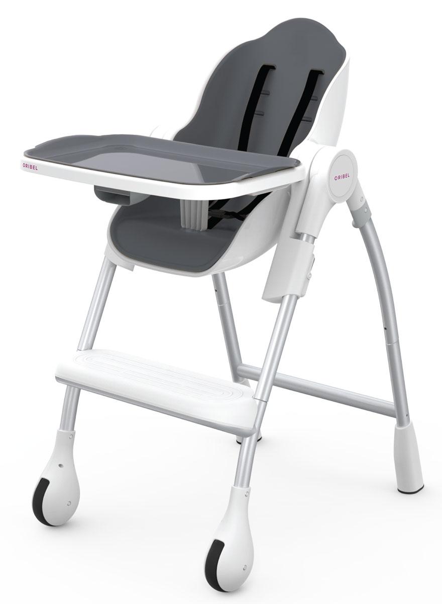 Oribel Стульчик для кормления SlateOR203-90006Стульчик для кормления Cocoon от ТМ Oribel - это эргономичный стул с широким набором функций. Сидение имеет прокладку из пеноматериала и ремишки для фиксации ребенка. Стул также регулируется по высоте, а также имеет 3 положения наклона, благодаря чему вы с легкостью сможете использовать его в качестве полноценной колыбели. В наборе со стулом идут такие дополнительные элементы, как съемный широкий поднос и подстаканник, который можно крепить на любую из сторон. Предназначен для детей с 6 месяцев до 3х лет.