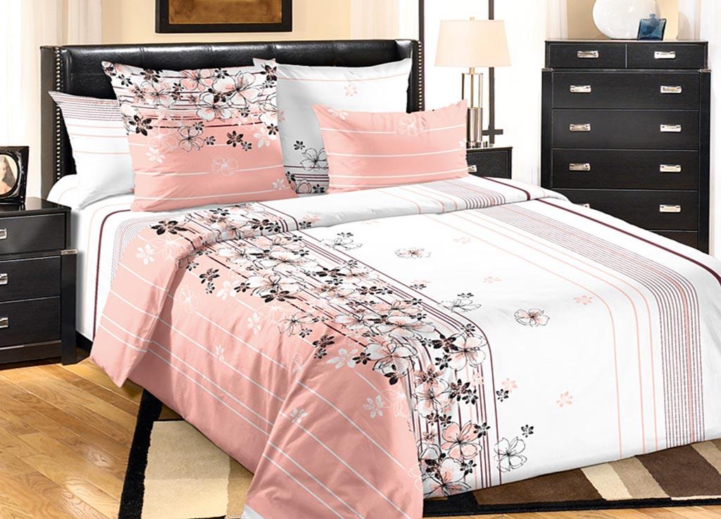 Комплект белья Primavera Утро, евро, наволочки 70x70, 50x70, цвет: розовый86530
