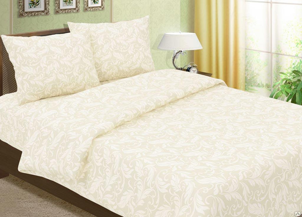 Комплект белья Primavera Перья, 1,5-спальный, наволочки 70x70, цвет: слоновая кость88367