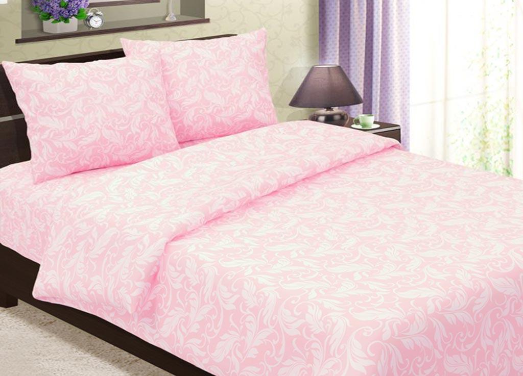 Комплект белья Primavera Перья, 1,5-спальный, наволочки 70x70, цвет: розовый88368