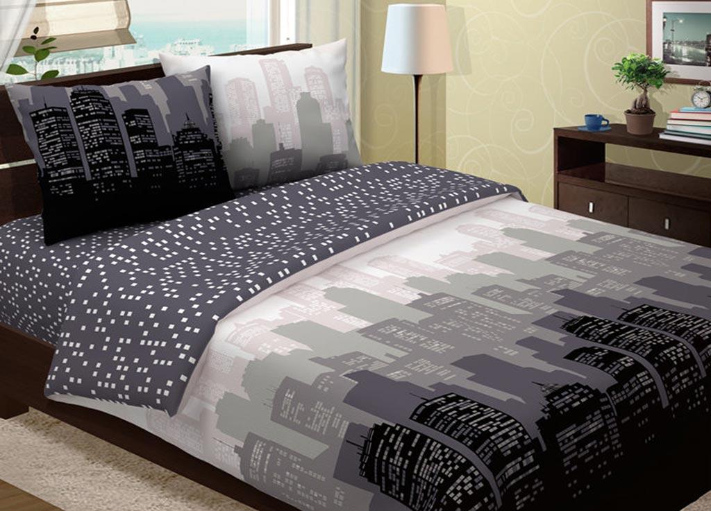 Комплект белья Primavera Манхеттен, 1,5-спальный, наволочки 70x70, цвет: серый88398