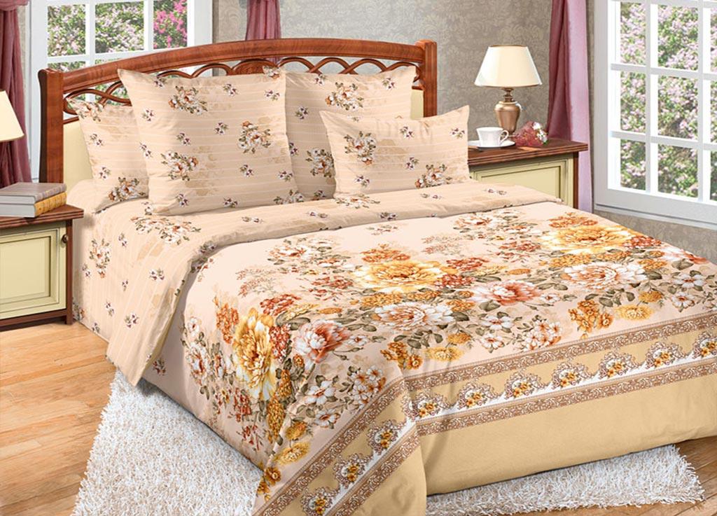 Комплект белья Primavera Пионы, 1,5-спальный, наволочки 70x70, цвет: бежевый89060