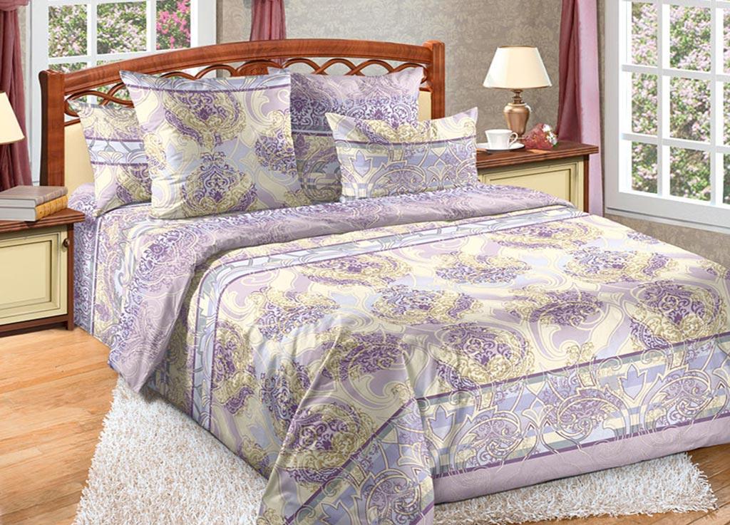 Комплект белья Primavera Загадка, 1,5-спальный, наволочки 70x70, цвет: сиреневый89078