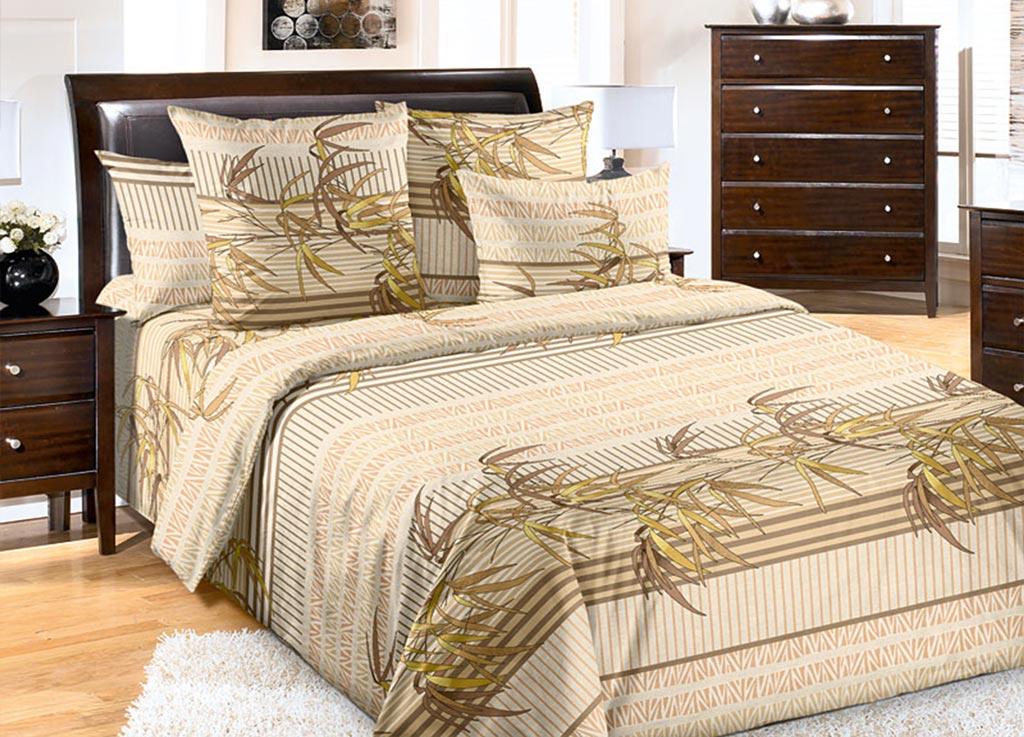 Комплект белья Primavera Бамбук, 2-спальный, наволочки 70x70, цвет: бежевый89091