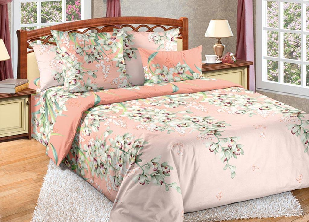Комплект белья Primavera Орхидея, евро, наволочки 70x70, 50x70, цвет: розовый89130