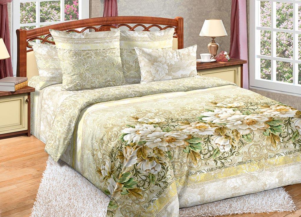 Комплект белья Primavera Цветы, евро, наволочки 70x70, 50x70, цвет: желтый89140