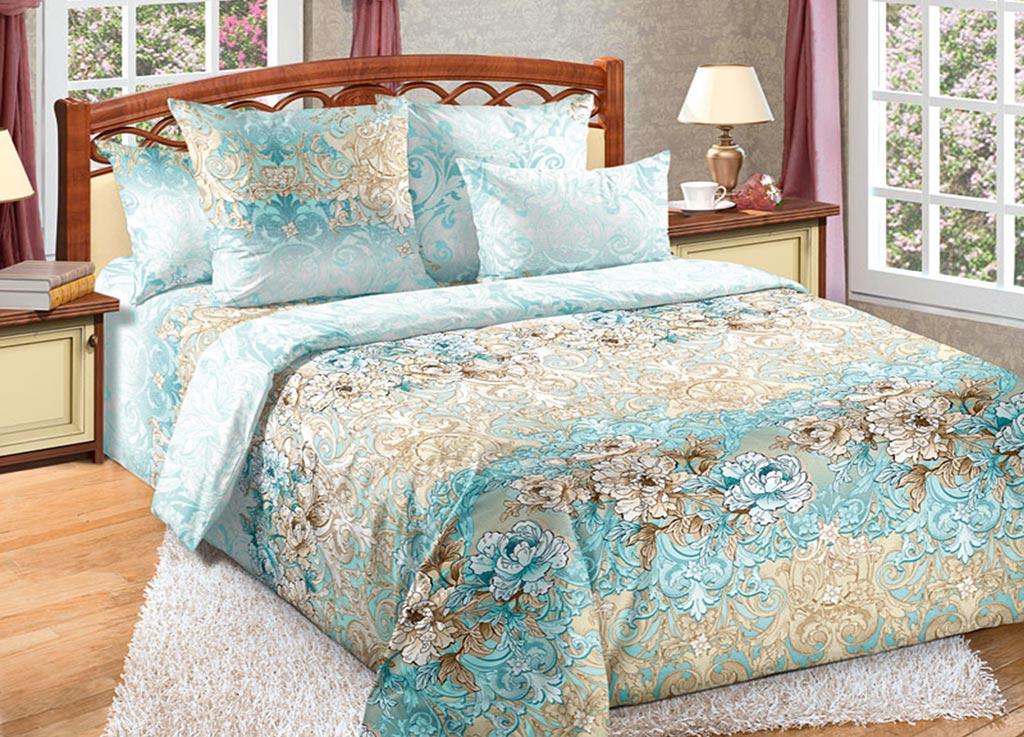 Комплект белья Primavera Лазурь, семейный, наволочки 70x70, 50x70, цвет: голубой89170