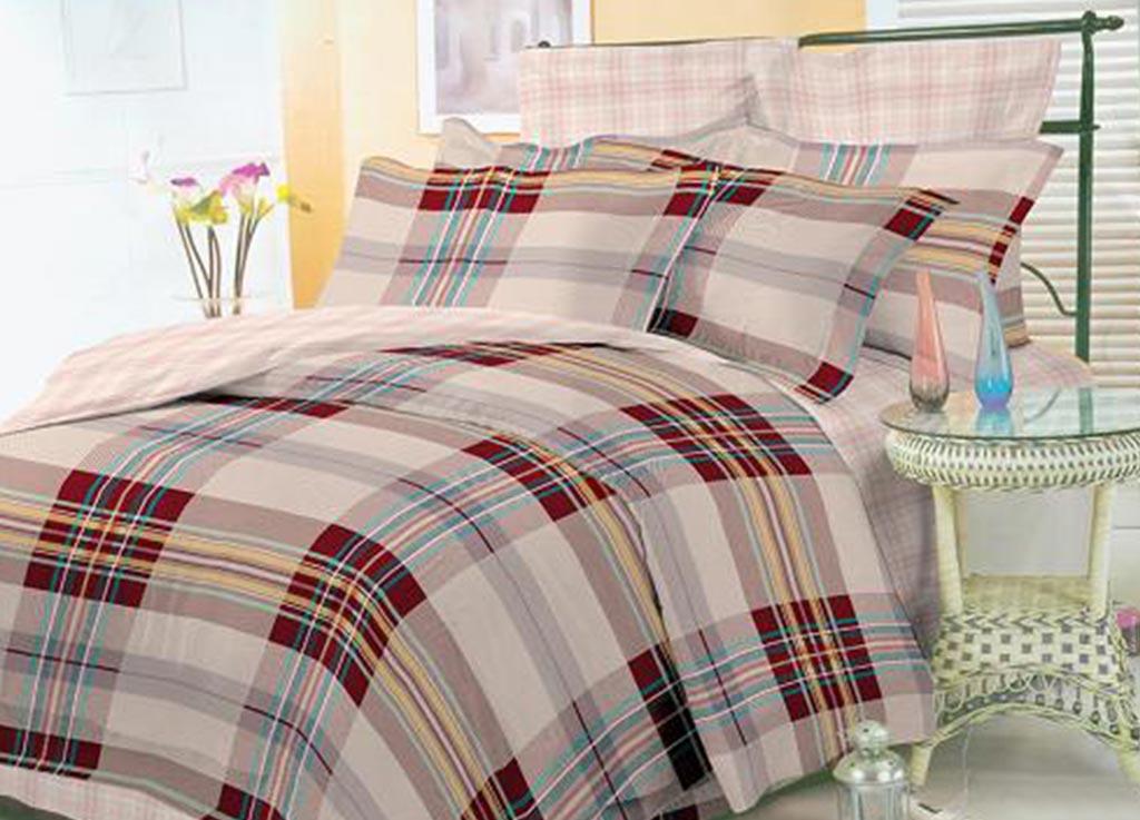 Комплект белья Primavera Клетка, 1,5-спальный, наволочки 70x70, цвет: бежевый89875