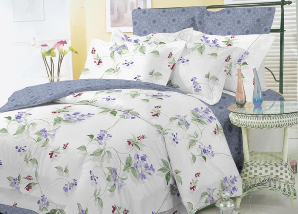 Комплект белья Primavera Скромное очарование, евро, наволочки 70x70, 50x70, цвет: серый89923