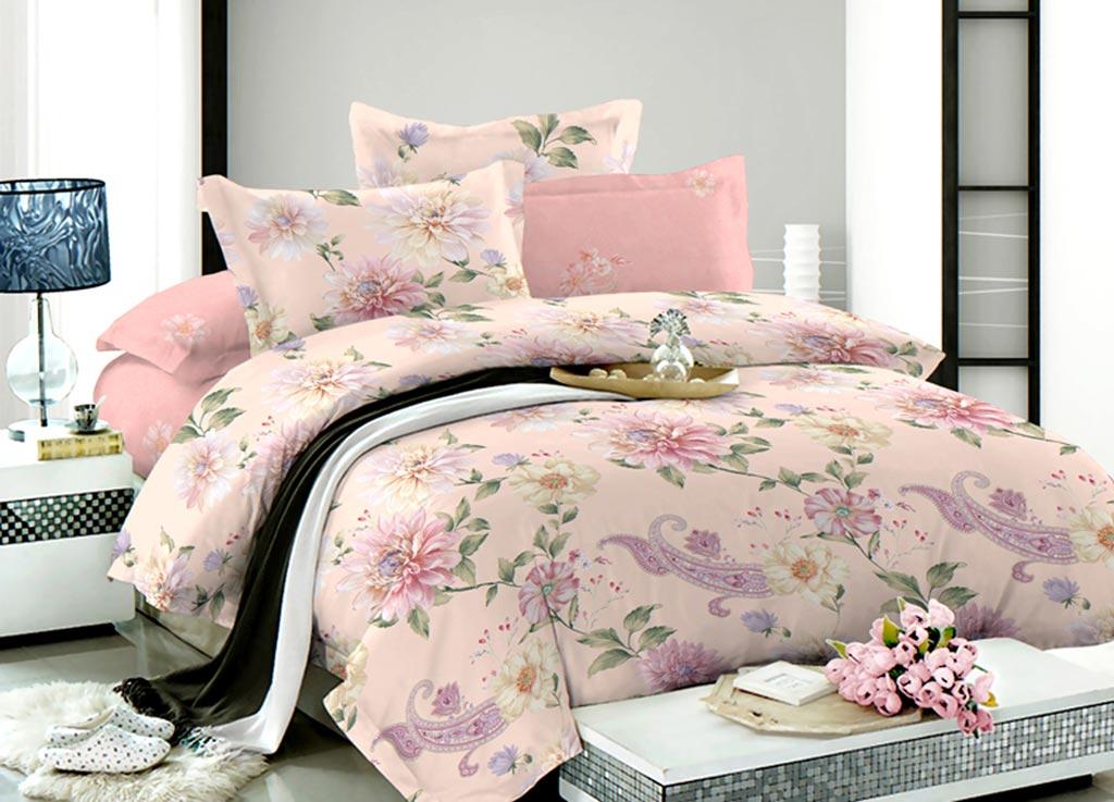 Комплект белья Primavera Георгин, семейный, наволочки 70x70, 50x70, цвет: розовый89939