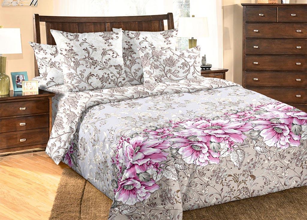 Комплект белья Primavera Маки , евро, наволочки 70x70, 50x70, цвет: серый89976