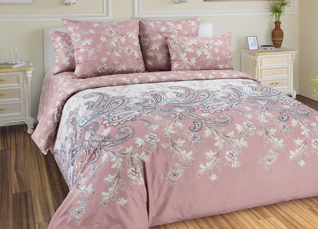 Комплект белья Primavera Восточные мотивы, евро, наволочки 70x70, 50x70, цвет: розовый89977