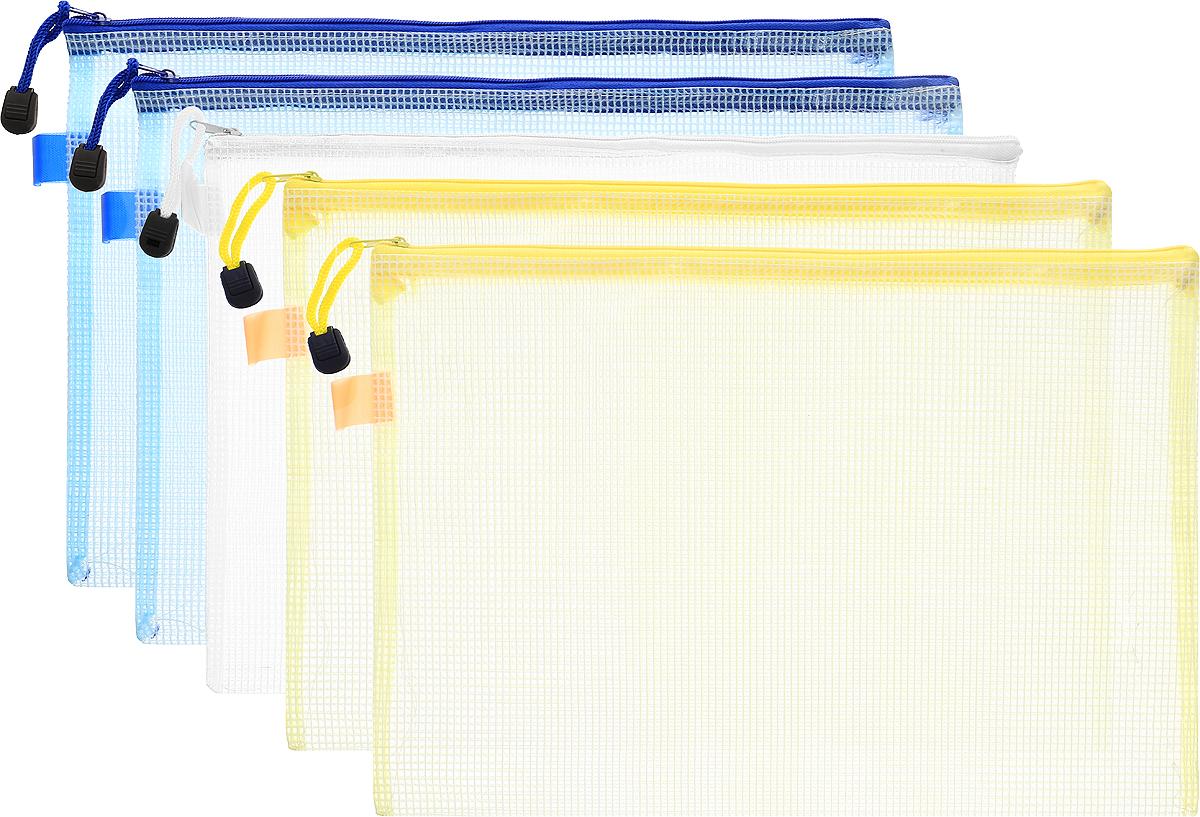 Centrum Папка на молнии цвет желтый голубой белый 5 шт80033_желтый, голубой, белыйОригинальная папка Centrum - это удобный и функциональный инструмент, который идеально подойдет для хранения различных бумаг и документов формата А4. Папка изготовлена из прочного материала и надежно закрывается на застежку-молнию. Для облегчения хранения и транспортировки папка снабжена шнурком с пластиковым ограничителем. Комплект включает в себя 10 папок желтого, белого и голубого цветов. Такая папка практична в использовании и надежно сохранит ваши бумаги, сбережет их от повреждений, пыли и влаги.