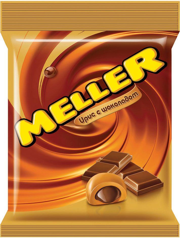 Meller ирис с шоколадом, 100 г8251785Ирис Meller молочный шоколад изготовлен на основе натуральных ингредиентов с использованием сгущенного молока и какао. Основную часть конфеты составляет жевательный ирис, а в ее сердцевине – измельченный молочный шоколад, который эффектно дополняет нежный сливочный вкус. Конфеты можно брать собой повсюду благодаря компактным размерам упаковки.