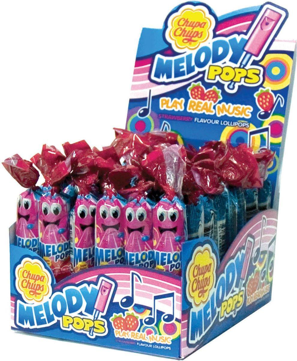 Chupa Chups карамель Melody Pops, 48 шт по 15 г8251971Фруктовая карамель и одновременно настоящая свистулька, на которой можно играть разные мелодии.