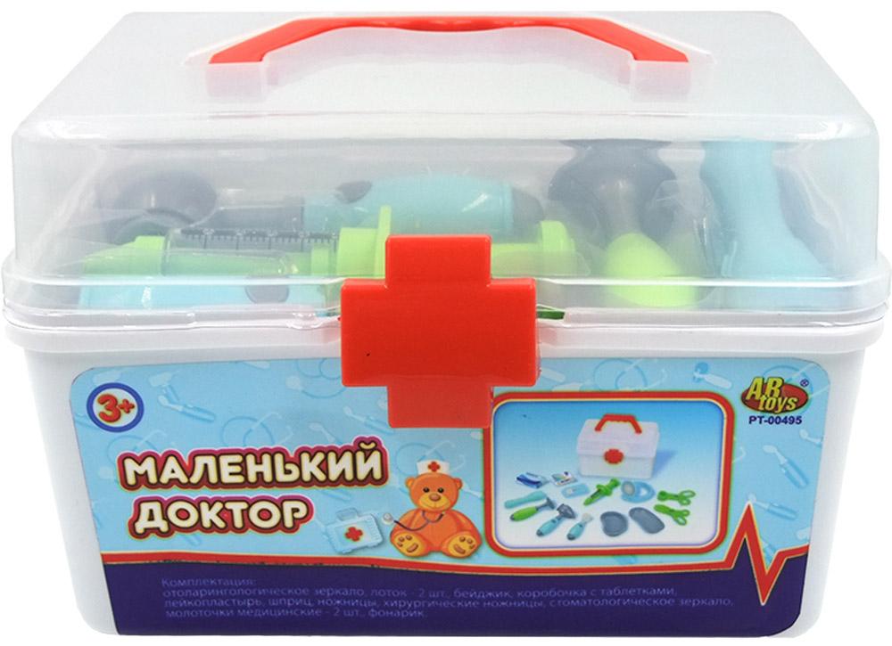 ABtoys Игровой набор Маленький доктор 15 предметовPT-00495(WK-B7971)Игровой набор ABtoys Маленький доктор включает в себя 15 предметов, при помощи которых ребенок сможет производить осмотр игрушечным пациентам, назначать лечение, и лечить. Набор доктора упакован в кейс, у которого крышка прозрачная, и сразу видно, что все инструменты на своих местах. С этим замечательным набором малыш сможет почувствовать себя квалифицированным специалистом. Теперь все игрушки будут совершенно здоровы!