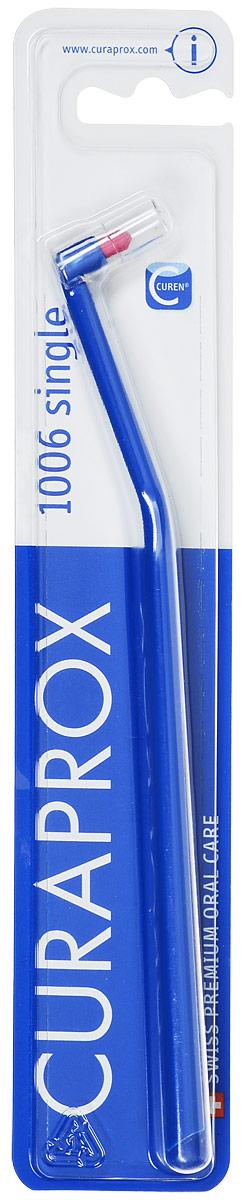 """Curaprox CS1006 Монопучковая щетка Single & Sulcular, цвет: синий, 6 ммCS1006_синийМонопучковая щетка CURAPROX CS """"Single"""" для очистки труднодоступных поверхностей зубов и зубодесневой борозды. Длина пучка 6 мм. Подходит для очистки отдельно стоящих зубов, ретромолярной зоны (за 7,8 молярами). Благодаря закругленной щетине, щетка легко адаптируется к анатомии десневого края, не оказывает давления."""