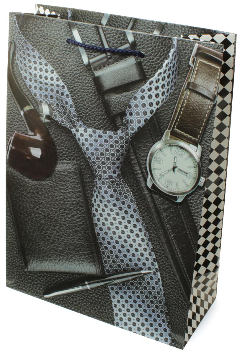 Пакет подарочный МегаМАГ Галстук, часы, 22 х 31 х 10 см. H2. 7064 ML7064 MLПакет подарочный ламинированный. Ручки-шнурки. Размер:220*310*100 мм .