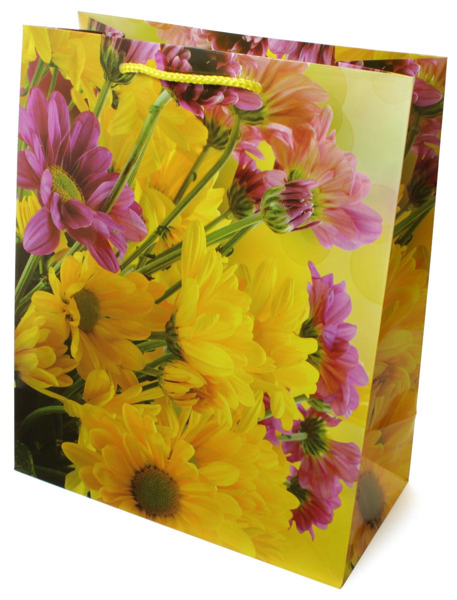Пакет подарочный МегаМАГ Цветы, 26,4 х 32,7 х 13,6 см. H2. 3117 L3117 LПакет подарочный ламинированный. Ручки-шнурки. Размер:264*327*136 мм .