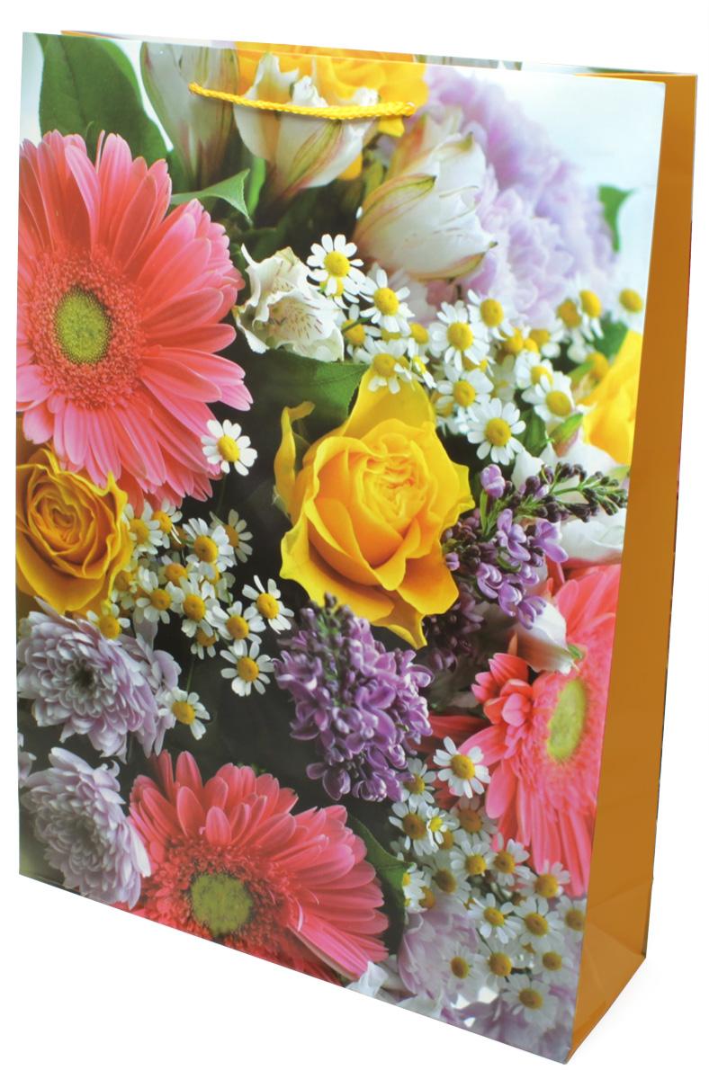 Пакет подарочный МегаМАГ Цветы, 32,4 х 44,5 х 10,2 см. 5041 XL5041 XLПодарочный пакет МегаМАГ, изготовленный из плотной ламинированной бумаги, станет незаменимым дополнением к выбранному подарку. Для удобной переноски на пакете имеются ручки-шнурки. Подарок, преподнесенный в оригинальной упаковке, всегда будет самым эффектным и запоминающимся. Окружите близких людей вниманием и заботой, вручив презент в нарядном, праздничном оформлении.