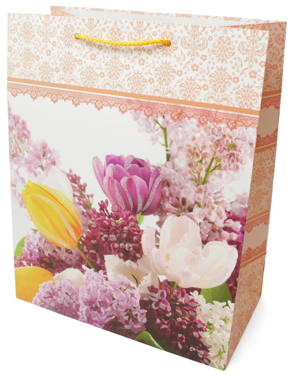 Пакет подарочный МегаМАГ Premium. Цветы, 26,4 х 32,7 х 13,6 см. 3036 LP3036 LPПодарочный пакет МегаМАГ, изготовленный из плотной ламинированной бумаги, станет незаменимым дополнением к выбранному подарку. Для удобной переноски на пакете имеются ручки-шнурки. Подарок, преподнесенный в оригинальной упаковке, всегда будет самым эффектным и запоминающимся. Окружите близких людей вниманием и заботой, вручив презент в нарядном, праздничном оформлении.