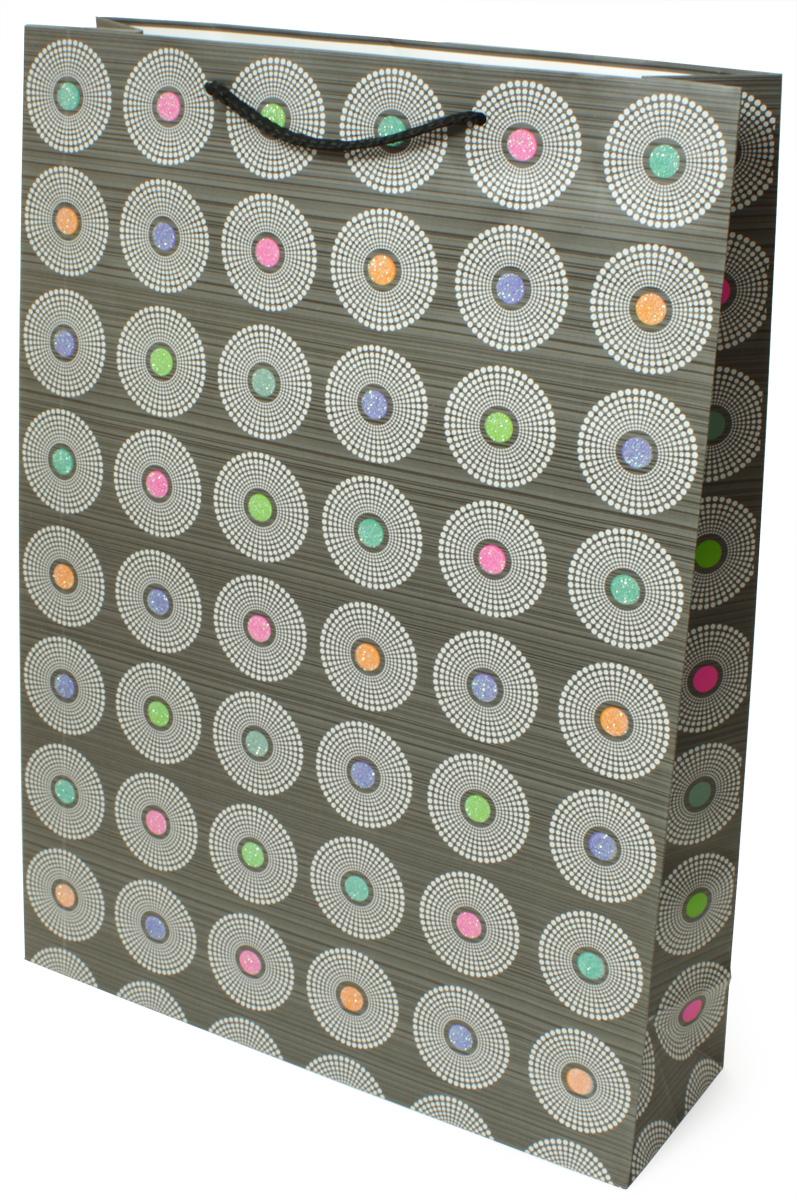 Пакет подарочный МегаМАГ Premium. Круги, 32,4 х 44,5 х 10,2 см. 505 XLP505 XLPПодарочный пакет МегаМАГ, изготовленный из плотной ламинированной бумаги, станет незаменимым дополнением к выбранному подарку. Для удобной переноски на пакете имеются ручки-шнурки. Подарок, преподнесенный в оригинальной упаковке, всегда будет самым эффектным и запоминающимся. Окружите близких людей вниманием и заботой, вручив презент в нарядном, праздничном оформлении.