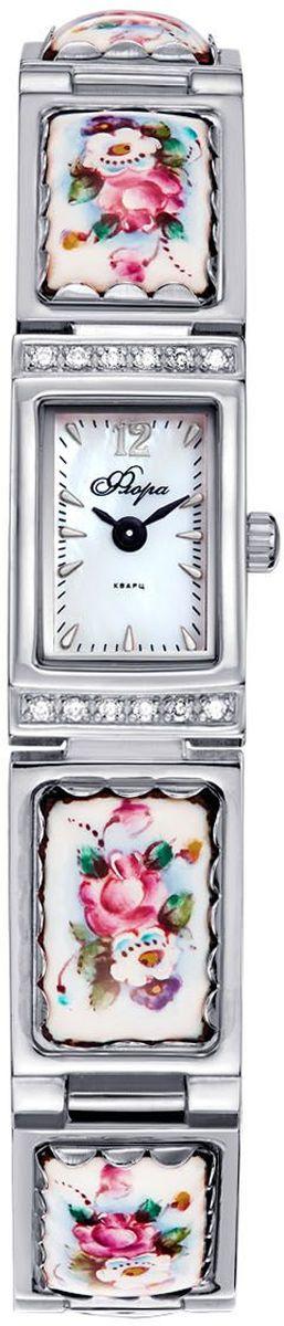 Часы наручные женские Mikhail Moskvin, цвет: серебристый, мультиколор. 1141B6-B11141B6-B1Наручные кварцевые часы Mikhail Moskvin выполнены из высококачественных материалов. Фигурный корпус, выполненный из металла с покрытием из стали, оформлен декоративной росписью с изображением цветов. Модель оснащена минеральным, устойчивым к царапинам, стеклом и стальной задней крышкой.