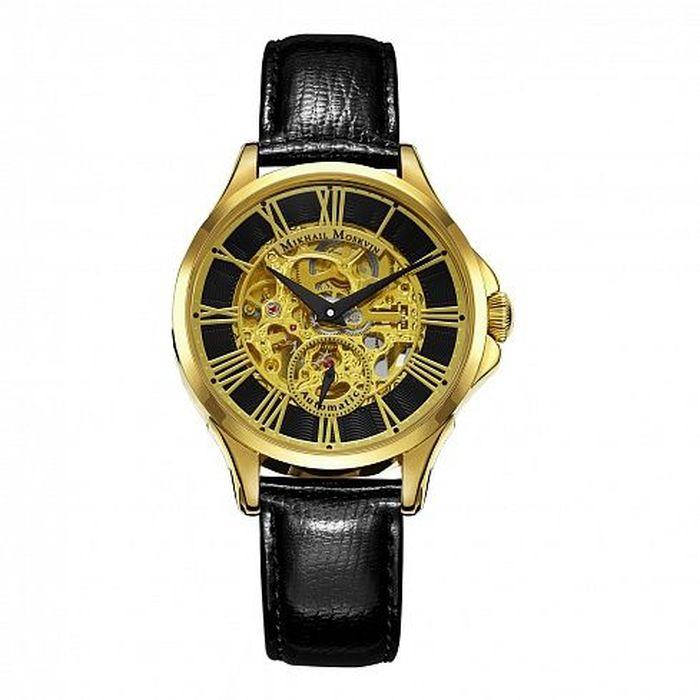 """Часы наручные мужские Mikhail Moskvin """"Премьер"""", цвет: золотой. 1234A2L2"""