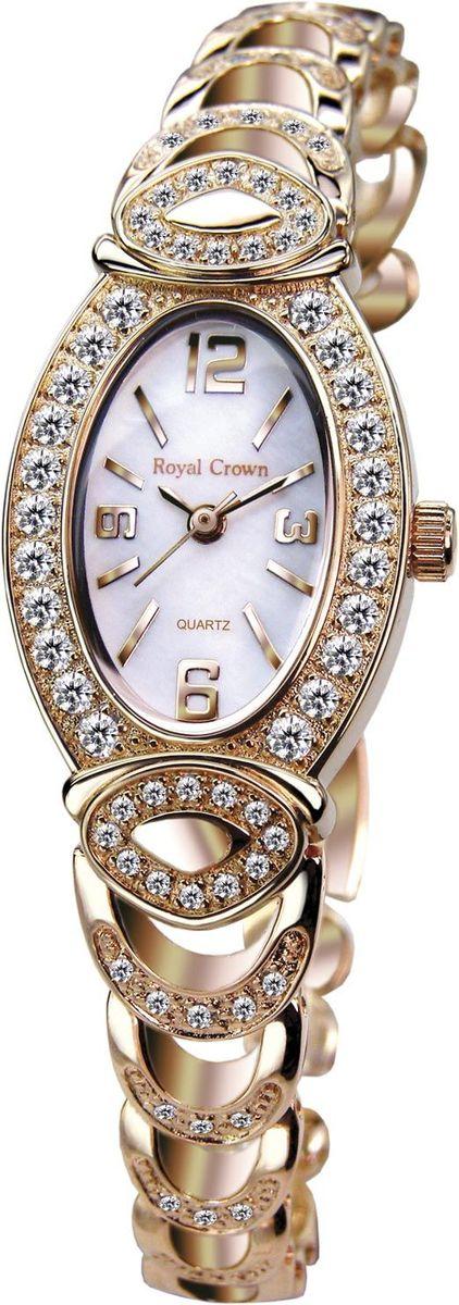 Часы наручные женские Royal Crown, цвет: золотой. 3651-RSG-53651-RSG-5Royal Crown- воплощение безукоризненного стиля и надежности.Это изысканный итальянский дизайн,высококачественные механизмы.