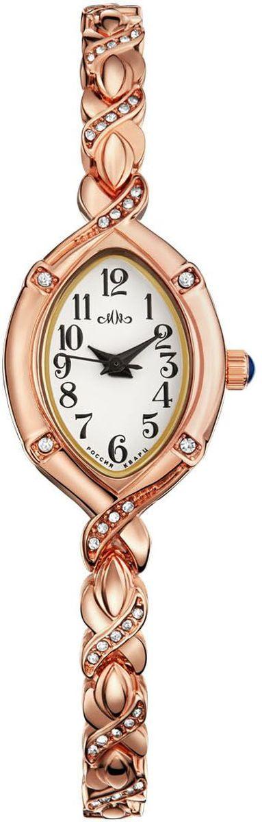 Часы наручные женские Mikhail Moskvin Каприз, цвет: золотой. 547-8-1547-8-1Наручные кварцевые часы Mikhail Moskvin выполнены из высококачественного металла с напылением ионами розового золота. Браслет выполнен в виде косички, оформленной вставками из страз. Часы оснащены минеральным, устойчивым к царапинам, стеклом и задней крышкой из гипоаллергенной нержавеющей стали.