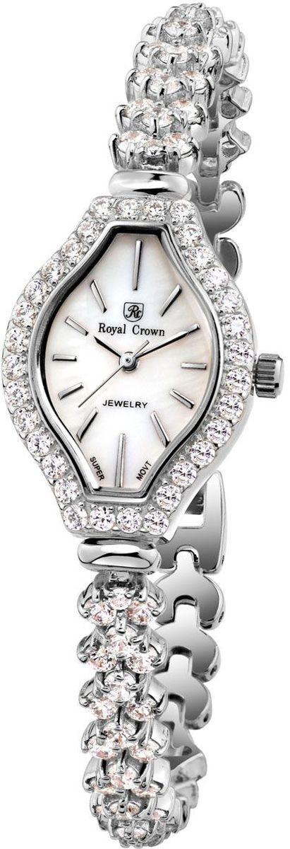 Часы наручные женские Royal Crown, цвет: серебристый. 63815-RDM-563815-RDM-5Royal Crown- воплощение безукоризненного стиля и надежности.Это изысканный итальянский дизайн,высококачественные механизмы.