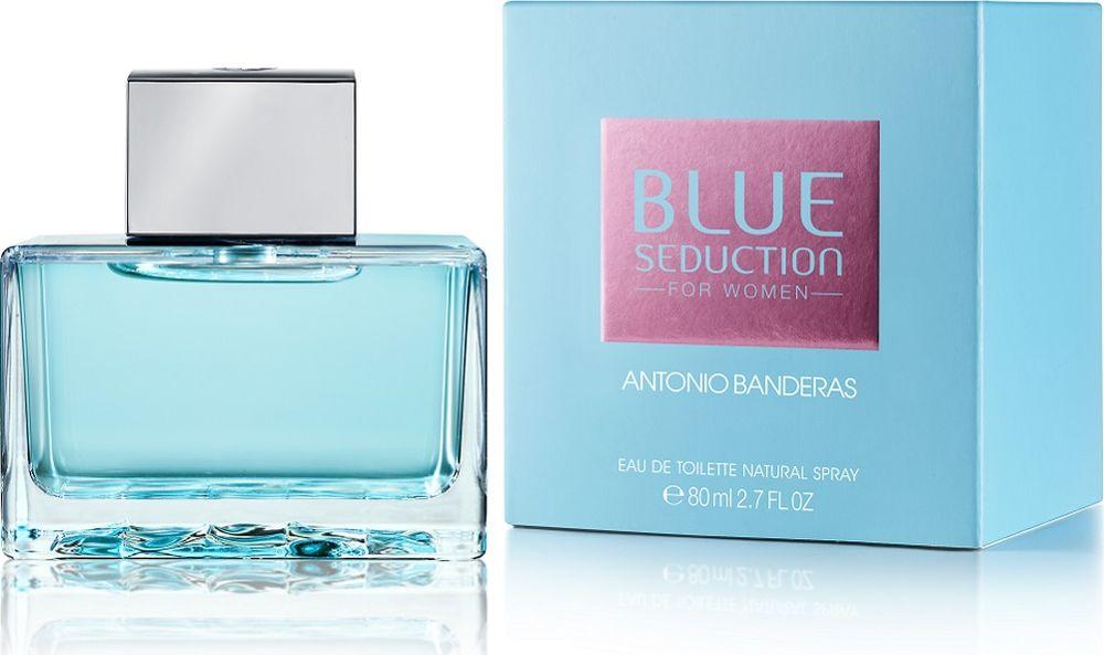 Antonio Banderas Blue Seduction Woman Туалетная вода 80 мл.65111324Blue Seduction for Woman - очень женственный аромат, обладающий особой свежестью Blue Freshness и четко выраженной чувственностью. Он создан для женщины с характером, полной современного духа и спонтанности, которая спешит ярко прожить каждый момент и любит сюрпризы. За счет цитрусовых, сочных фруктовых нот и нот лепестков фиалки достигается нежное ощущение свежести и чистоты. Тонкое сочетание цветочных нот, усиленное нотами лепестков розы и жасмина, а также сочными нотами малины придает аромату женственность. Чувственность базовых нот проявляется, благодаря освежающим восточным нотам, усиленным успокаивающим бензоином и долгой теплоте мускуса. Сладкие ноты придают аромату сексуальность и привлекательность.