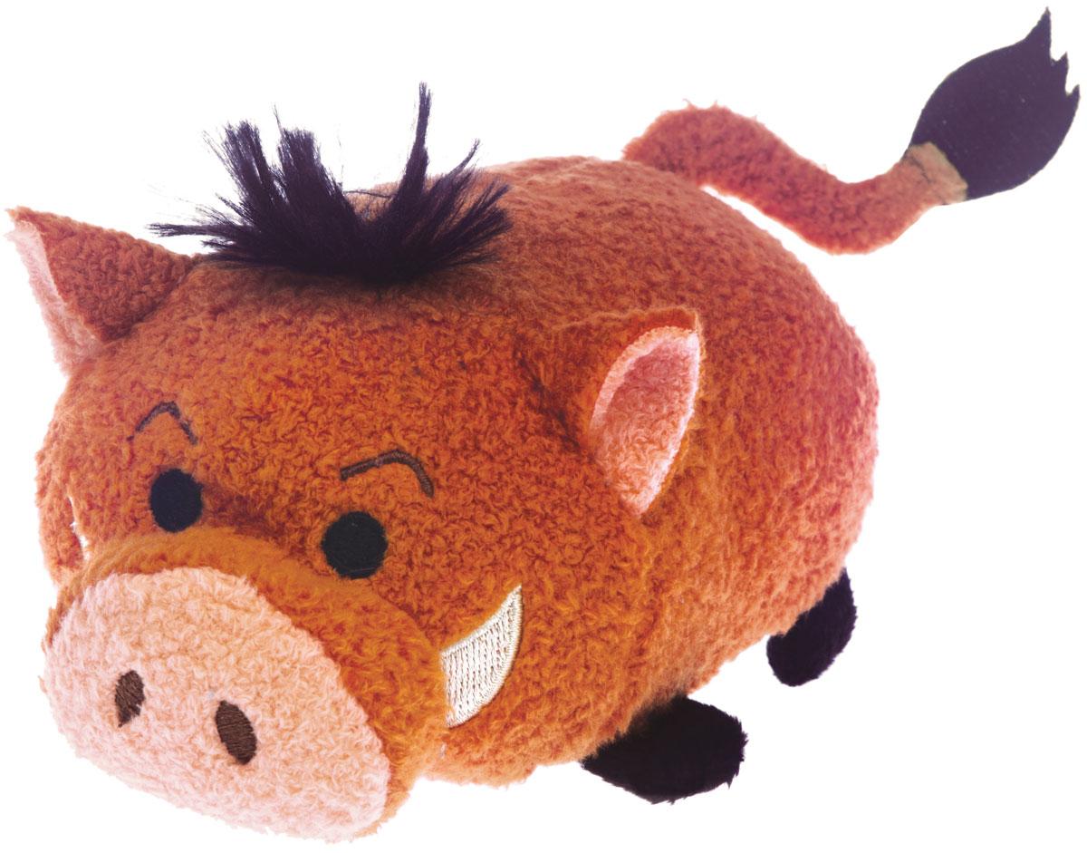 Tsum Tsum Мягкая озвученная игрушка Pumba 13 см5866Q_PumbaTsum Tsum - это любимые герои из мультфильмов Disney необычной продолговатой формы. Милые игрушки интересно коллекционировать и разыгрывать с ними сценки: как из мультфильмов, так и свои собственные. Мягкая игрушка Pumba порадует и развеселит ребенка, ведь при нажатии на нее, игрушка издает забавные звуки и у нее светятся щечки. Игрушка работает от незаменяемых батареек.