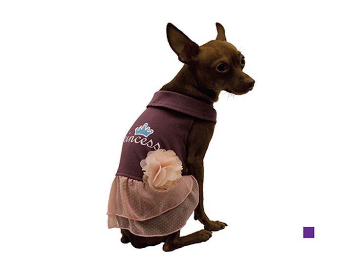 Сарафан для собак Каскад Princess, для девочки, цвет: фиолетовый. Размер M52000918