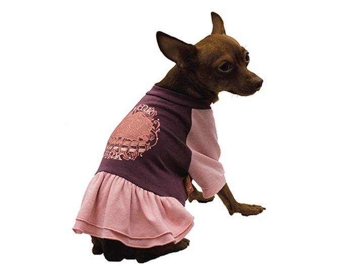 Платье для собак Каскад Pink, для девочки, цвет: фиолетовый. Размер S52000937