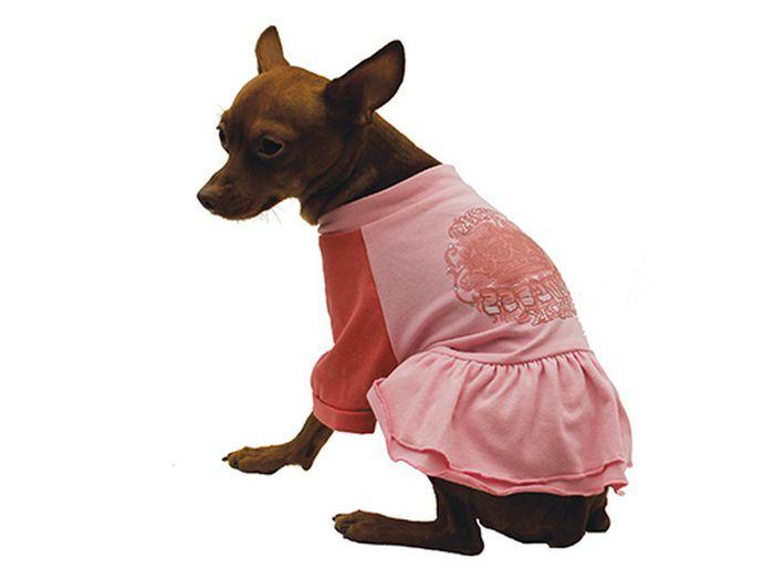 Платье для собак Каскад Pink, для девочки, цвет: розовый. Размер M52000943