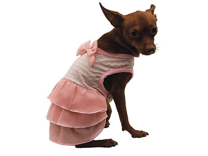 Сарафан для собак Каскад С бантом, для девочки, цвет: розовый. Размер XL52000980