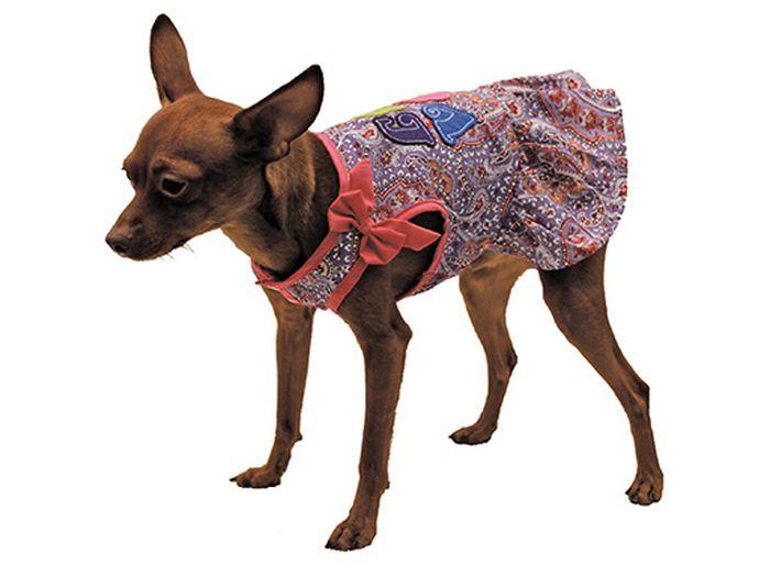 Сарафан для собак Каскад Восточный огурец. Love, для девочки, цвет: розовый. Размер L52000984