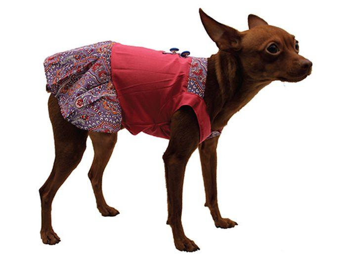 Сарафан для собак Каскад Восточный огурец, для девочки, цвет: розовый. Размер S52000987