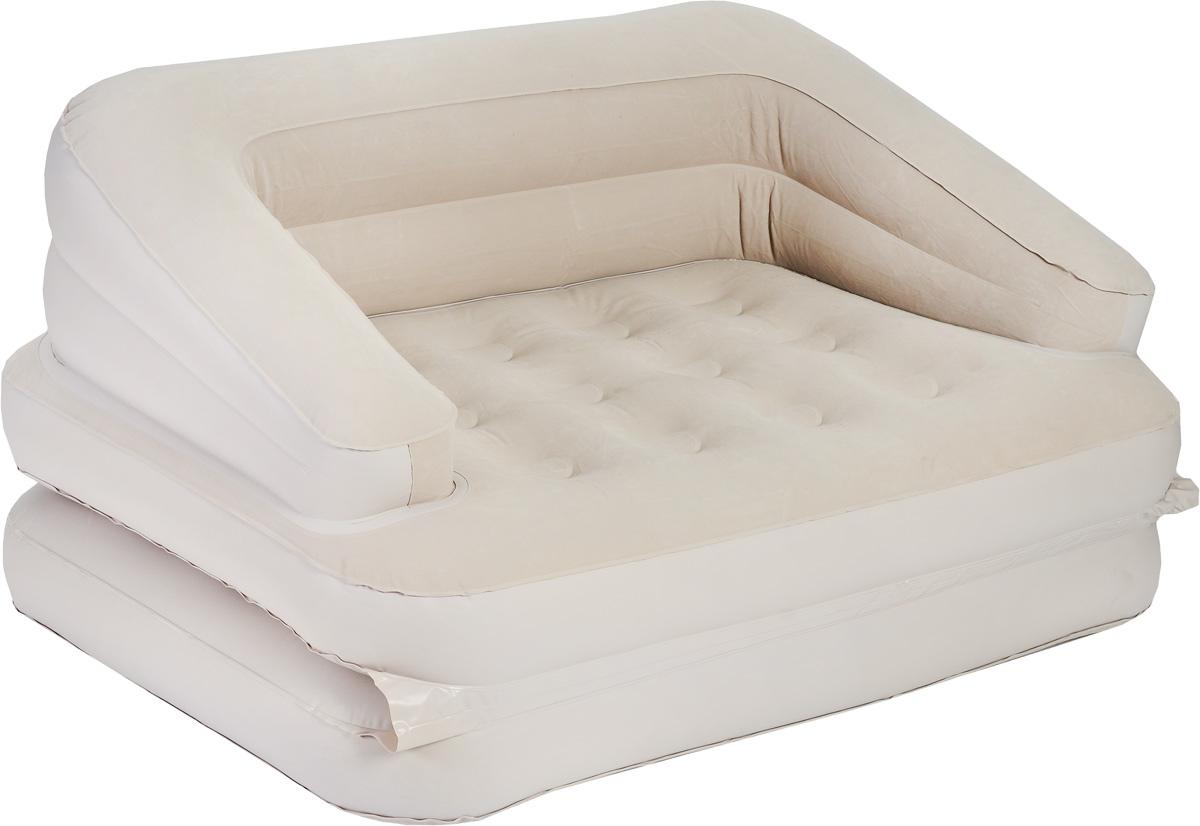 Кровать Relax Sofa Bed, трансформер, с электрическим насосом, цвет: бежевый, 205 см х 146 смJL037239NСдержанный дизайн, нейтральные цвета надувной кровати Relax Sofa Bed подойдут к любому интерьеру. Кровать проста в использовании, очень комфортна и не занимает много места при хранении. Кровать Relax Sofa Bed имеет водоотталкивающее флоковое покрытие, предотвращающее соскальзывание простыни. Компания Relax - это широкий ассортимент продукции высокого качества, которая продается во многих странах мира. Особенности кровати: Легко накачивается с помощью встроенного ножного насоса 220В (время накачивания - 3 минуты). Легко складывается для хранения и переноски: конструкция с внутренним каркасом для жесткости. Лучший выбор для путешествий и кемпинга. Данная модель может использоваться в качестве матраса, кровати или кресла. Всего предусмотрено 5 различных конфигураций. Удобна для использования как внутри помещения, так и снаружи. Сумка для переноски и хранения в комплекте. Самоклеящаяся заплатка. Размер спального...