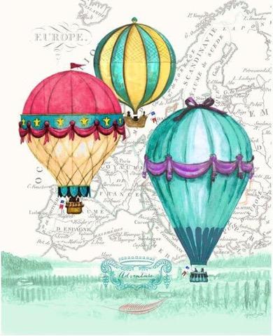 Картина-репродукция Magic Home Воздушные шары. 4449544495Картина - репродукция Воздушные шары (30х40х0,9см, печать на бумаге), основа из МДФ, без рамки