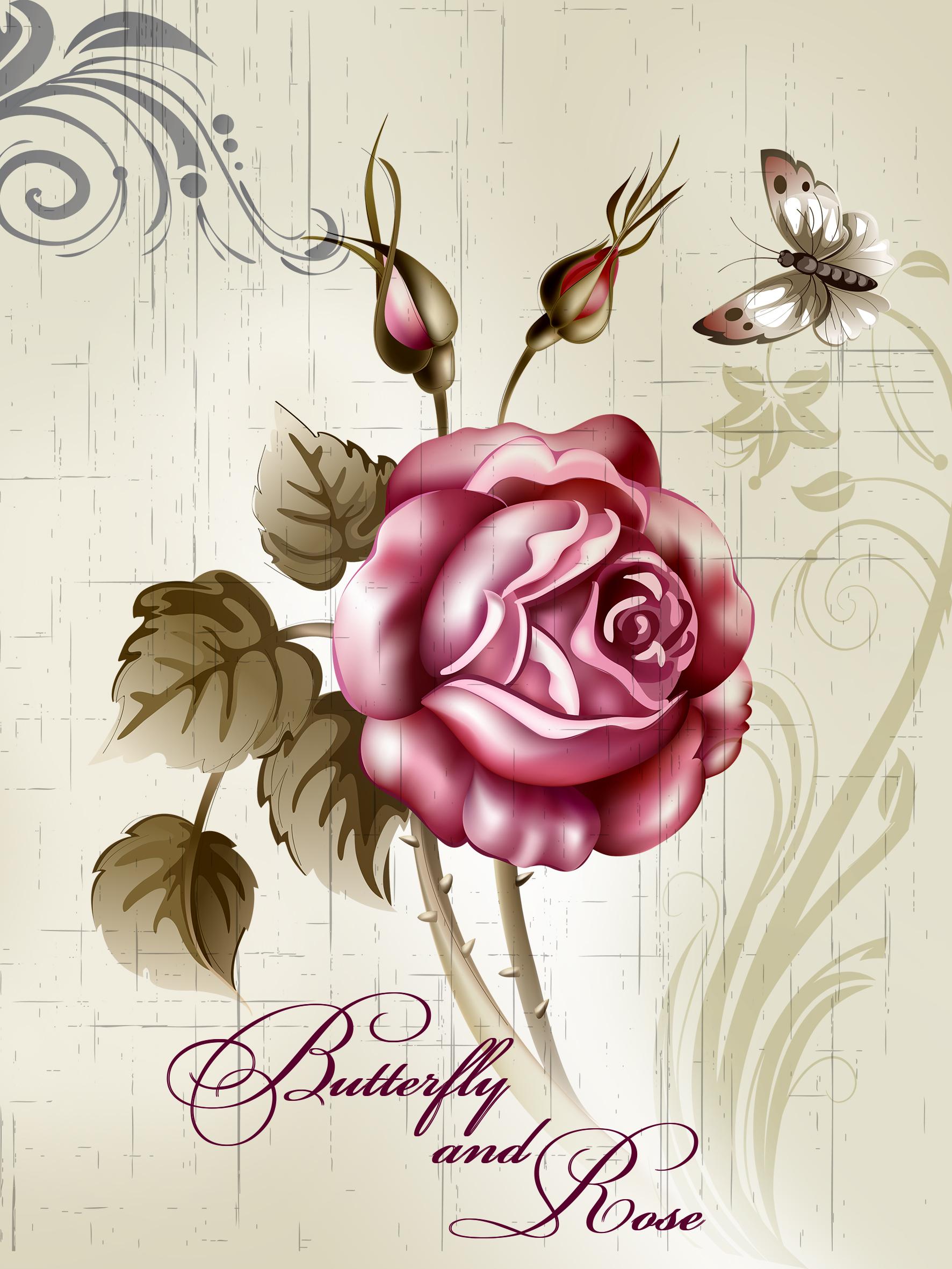 Картина-репродукция Magic Home Роза. 4449644496Картина - репродукция Роза арт.44496 (30х40х0,9см, печать на бумаге), основа из МДФ, без рамки
